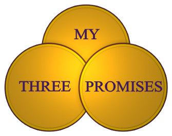 My Three Promises by Peter Tassi - Unleash your inner power and find true happiness.